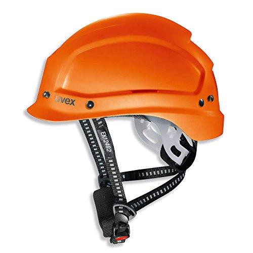 uvex pheos alpine Arbeits- und Bergsteigerhelm EN 397 und EN 12492 - Rettungshelm Sporthelm Kletterhelm Wanderhelm Schutzhelm Bauhelm Arbeitshelm, Farbe: orange