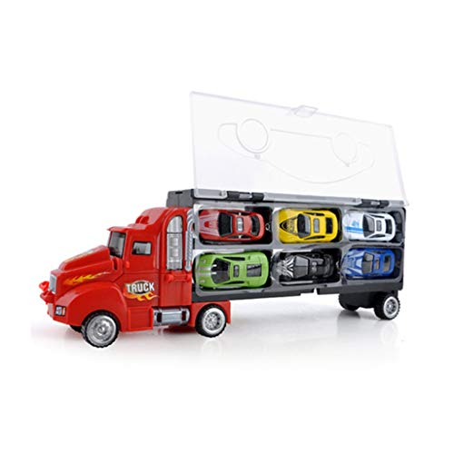 FIRMON Transport Car Carrier Truck Educational Vehicles Toy Car Children's Gift Slim Carrier