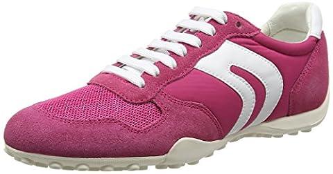 Geox Damen D Snake A Sneakers, Pink (PINKC8004), 41 EU
