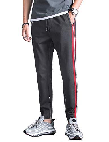 9ef9253b41 Kuulee Homme Pantalon de Sport Jogging Fitness Survêtement Homme Décoration  Rayée