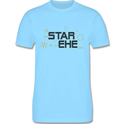 JGA Junggesellenabschied - Star Ehe - Herren Premium T-Shirt Hellblau