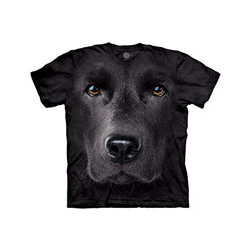 The Mountain Mädchen Black Lab Face Kids Tee T-Shirt, Schwarz, S