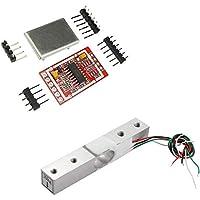 Aihasd 10KG Digitale Wägezelle Gewichtssensor Tragbar Elektronische Küchenwaage + HX711 AD Wägesensoren Wägemodul Metallschild Für Arduino