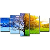 Toogoo Rahmenlose Vier Jahreszeiten Baum Landschaft Diy Malen Nach