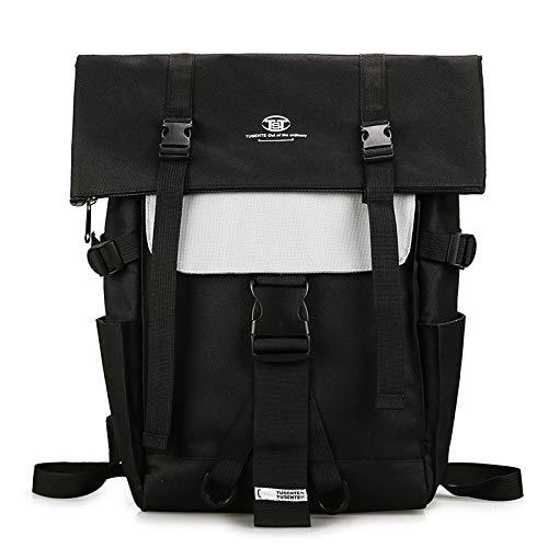 Mode vielseitig Rucksack Rucksack lässig Studententasche Outdoor Reisetasche schwarz