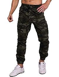 MODCHOK Homme Pantalon Jogging Sarouel Camouflage Sweat Pants Combat Sport  Fit 41aea9fc79c