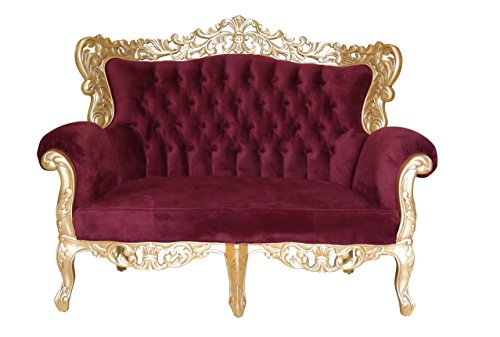 Barock Sofa Grande 2-Sitzer gold/bordeaux