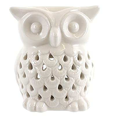 Jones Home and Gift White Owl Oil Burner,White