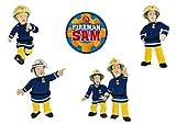 Mono-Quick Feuwehrmann Sam, 5er Set Aufbügler,Aufnäher,Bügelbilder,Patch,Sticker,Bilder zum aufbügeln, Polyester, Mehrfarbig, 8.5cm, 5
