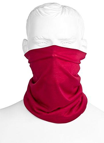 Preisvergleich Produktbild Multifunktionstuch Rot | Bandana Schlauchtuch / Halstuch | Sturmmaske | Maske Für Motorrad Fahrrad Paintball Ski Winter | Einfarbig Für Damen & Herren