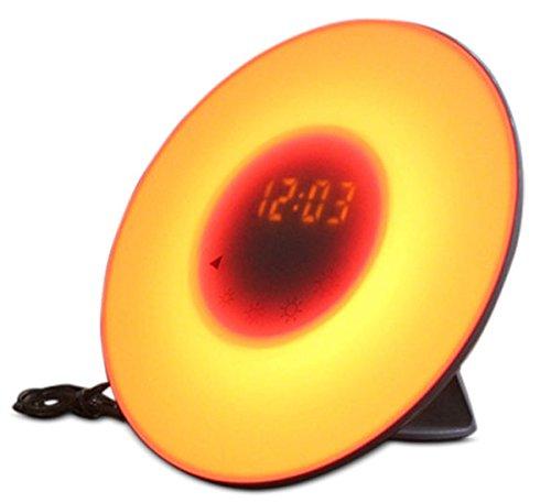Wake-up Light Despertador Luminoso   Technopoint Sunrise Despertador Luminoso Blanco   Despertador Simulación Amanecer  Despertar con Luz   Intensidad Luz y Color Ajustable