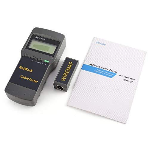 SC8108 Netzwerktester Tragbares LCD LAN Telefon Länge Kabel Meter 5E 6E RJ45 Grau