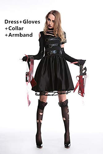 FHSIANN Halloween Kostüme für Frauen Edward Scissorhands