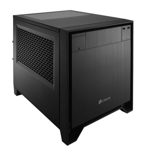 Corsair Obsidian 250D Case da Gaming, Mini-ITX, Finestra Superiore, Nero