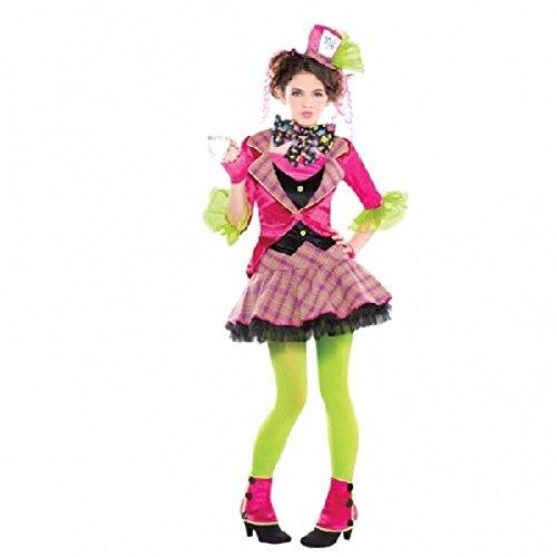 Der verrückte Hutmacher Kostüm - für Mädchen - Groß