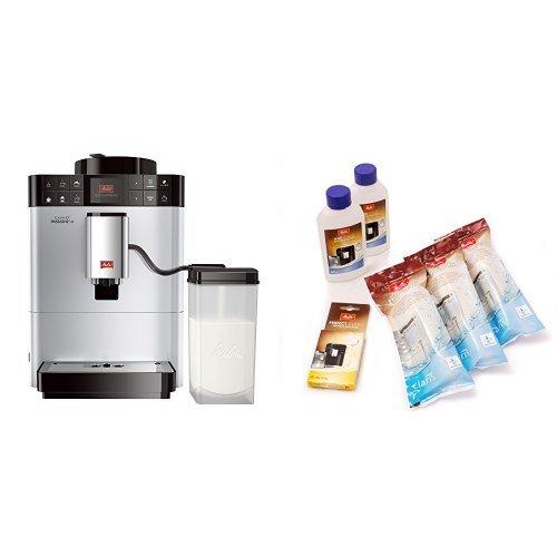Melitta F53/1-101 Platzsparender Kaffeevollautomat Caffeo Passione One Touch, Milchbehälter, Silber...