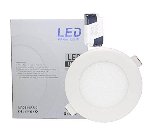 Lowenergie - Panel de luz LED redondo para techo (6 W, luz...