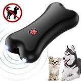Petacc Hand-held Anti-barking Device Ultrasonic Dog Bark Deterrent Dog Barking Controller Training Device with LED Light, USB Charging