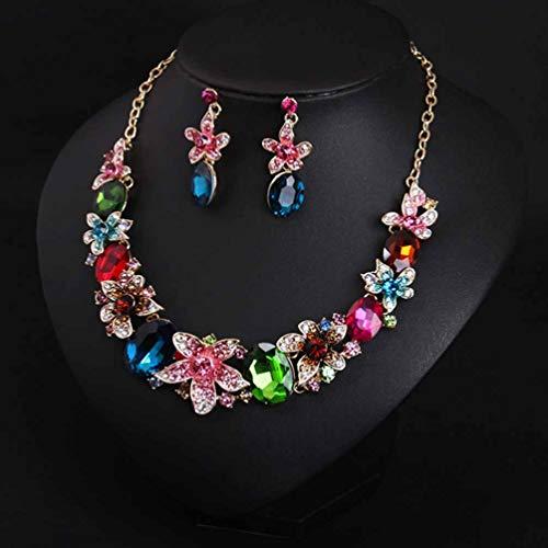LLYY® Schmuck Halskette Damen Modeschmuck Set, Halskette-Ohrringe Jewellery Set/Exquisite Wild Kristall Schmuckset