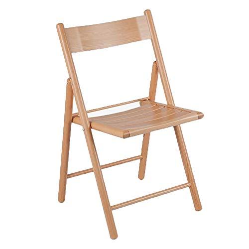 QIDI Chaise Pliante, Chaise de Bureau, hêtre, simplicité Moderne, Facile à Transporter - 44,5 * 42 * 82 cm - Couleur Bois (Couleur : Couleur du Bois)