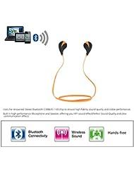 Aution House Auriculares Eestéreo Bluetooth 4.0 para Correr, Cascos Deportivos y Resistente al Agua y Audor. con Tecnología Aptx Avanzada para Electrónica (ORANGE)