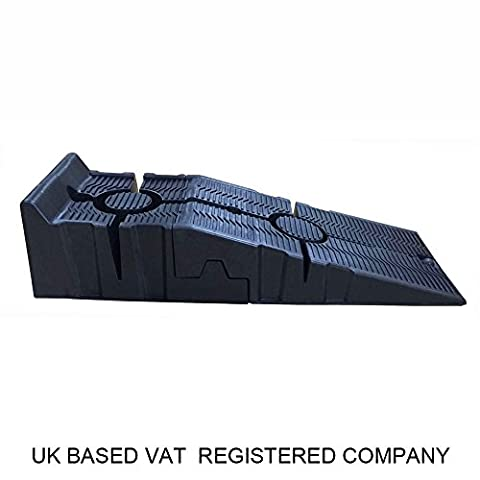 161914 1 Pair KATSU Heavy Duty Plastic Garage Workshop Car Service Ramps
