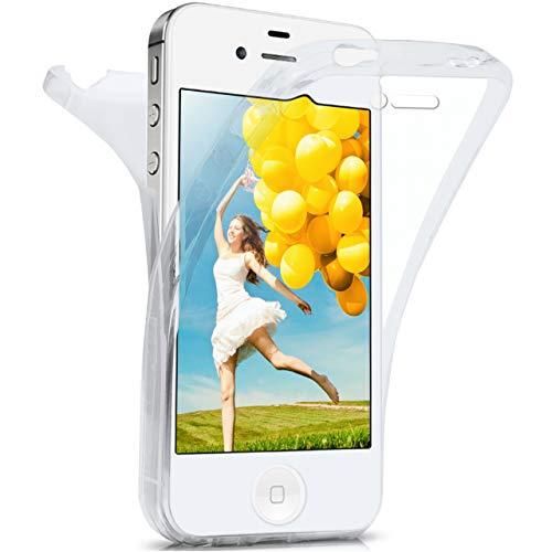 moex iPhone 4S | Hülle Silikon Transparent 360 Grad Double Side Cover Dünne Schutzhülle Slim Handyhülle für iPhone 4/4S Case Transparent Silikonhülle TPU