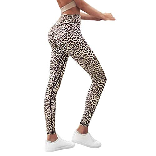 Bleistift-baumwolle Damen Hose (Battnot❤ Damen Sport Leggings Leopard Gedrucket Trainingsgamaschen Elastische Fitness Workout Yogahosen Lange Gymwear Laufen Jogginghosen, Frauen Laufhose Bleistift Hose Activewear Womens Pants S-XL)