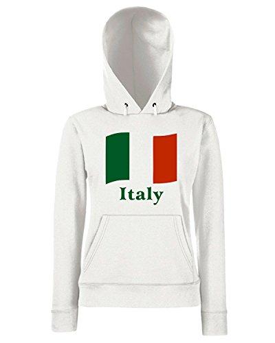 T-Shirtshock - Sweats a capuche Femme OLDENG00141 italian flag Blanc