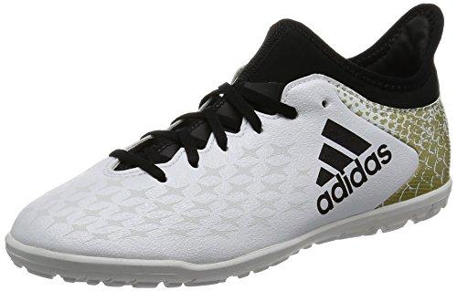 big sale dae6c dff6d adidas Boys  x 16,3 TF J Botas de fútbol formación, Blanco,