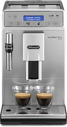 De'Longhi SB Autentica Plus, Automatic Bean to Cup Coffee Machine, Cappuccino and Espresso Maker, ETAM29.620.S, Silver and Black, 1450 W thumbnail