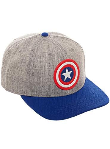 Bioworld International Gorra de Capitán América Gris para Adulto