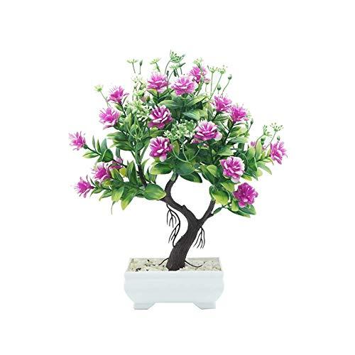 SISHUINIANHUA 1 stück Topf künstliche Blume Baum Bonsai DIY bühnengarten Hochzeitsfest dekor,D
