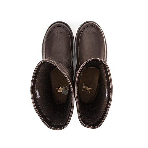 Donna in Pelle Marrone mocassini Mocassini Fitflop Superloafer gHUWnqE5XF