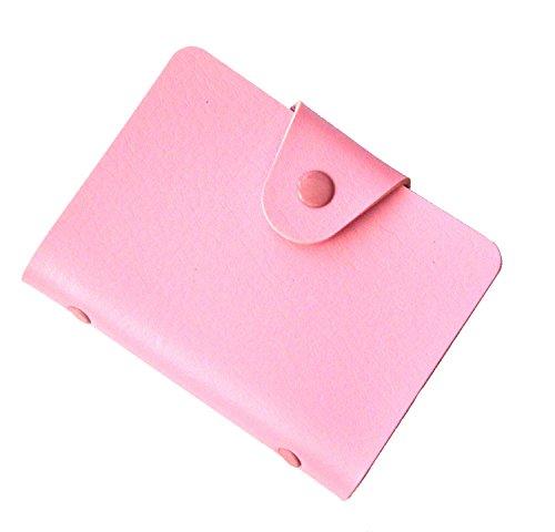Visitenkarten-Mappe, Karten-Mappe, Kreditkarteninhaber, Kreditkartenetui bis zu 24 Karten - Rosa