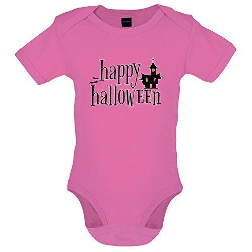 Happy Halloween - Lustiger Baby-Body - Bubble-Gum-Pink - 0 bis 3 (Halloween Kostüme Bubble Gum)