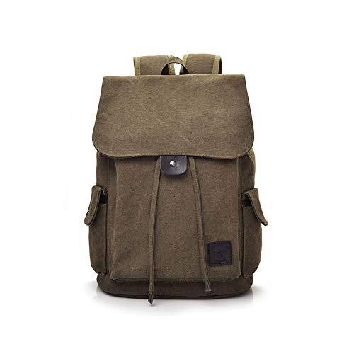 Backpack Zaino di Tela Unisex Vintage Zaino con Coulisse in Tela Borsa a Tracolla da Viaggio Zaino Zaino da Viaggio Zaino per Uomini e Donne,Brown-29 * 40cm