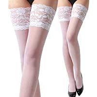 Calcetines Medias de Encaje sexy Lencería Yesmile ❤ Mujer y señora Medias de encaje seduciendo