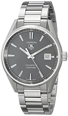 Tag Heuer CARRERA WAR211C.BA0782 39mm Silver Steel Bracelet & Case Anti-Reflective Sapphire Men's Watch