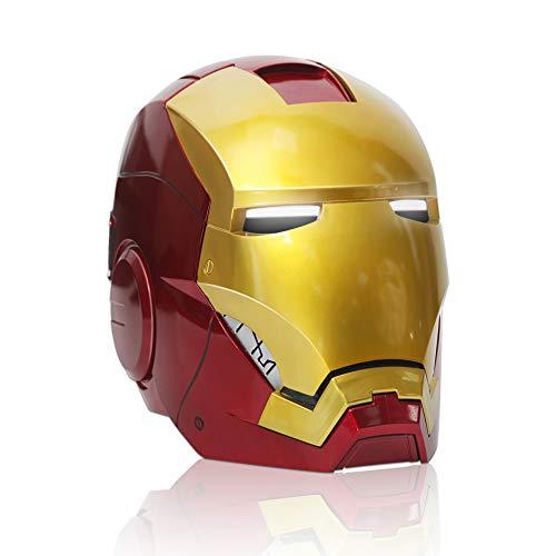 engers Iron Man Helm Iron Man 1: 1 Helm Tragbar Tony Stark Mark Cosplay Maske Requisiten LED-Licht Eyes Collection Display Elektronischer Helm ()