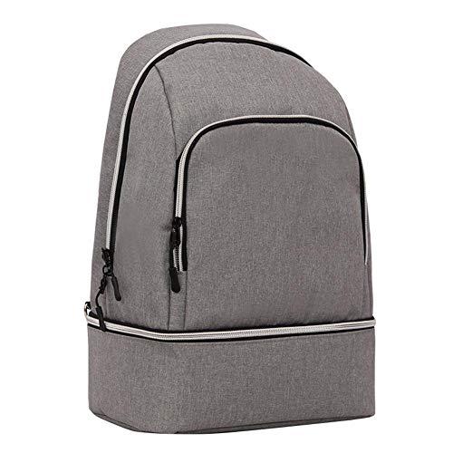 Sincey lunch bag, grande borsa alimentare portatile biberon isolato cinghia spalla rimovibile grigio