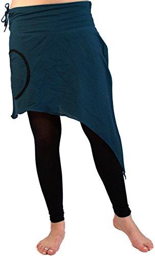 Guru-Shop Goa Rock Cacheur, Damen, Baumwolle, Kurze Röcke Alternative Bekleidung Petrol