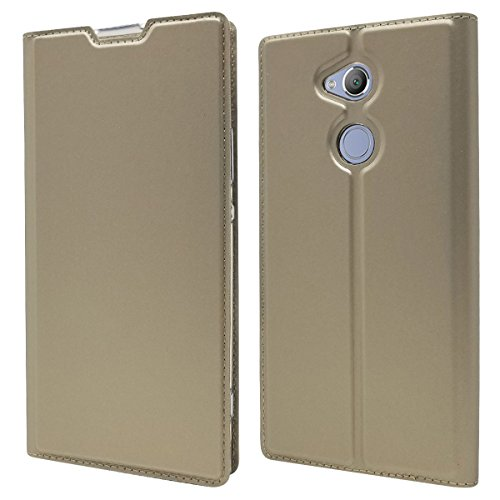 Homory Sony Xperia XA2 Ultra Wallet Multi Card Holder Backcase Bumper Folio PU Leather Cover with Bumper Case for Sony Xperia XA2 Ultra - Golden Sony Pictures Model