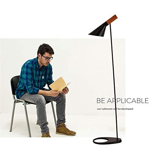 Lampadaires- Simple couleur naturelle solide lampe de sol en bois nordique salon moderne créatif ajustement flexible vertical lampe de table personnalité chambre étude lampe