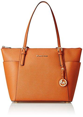- 41Cn3Sm93dL - Michael Kors Women's Jet Set Top Zip EW Large Tote Tote Bag orange