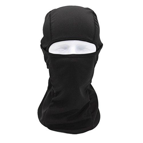 Sturmhauben SOMESUN Taktische Bandanas Motorrad Gesichtsmasken Radfahren Jagd Outdoor Ski Vollmaske Helm (schwarz) (Muster Lycra)