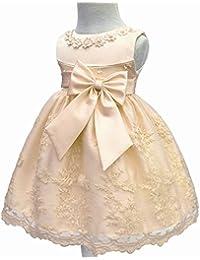 LZH Bebé Infantil Niñas Vestido de Bautizo de Cumpleaños Bautismo Vestido de ...