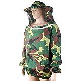 Electomania Bee Suit Profession Beekeeping Jacket Veil Suit Camouflage Bee Protective Equipment for Men Women