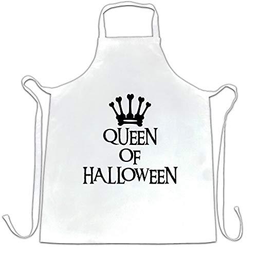 Neuheit Spooky Schürze des Chefs Queen Of Halloween Crown White One Size