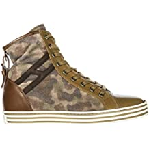 Hogan Rebel Sneakers Alte R182 Donna Marrone de1c668d9e3